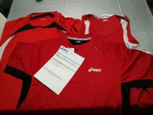 Camisetas Asics rojo Red Runners