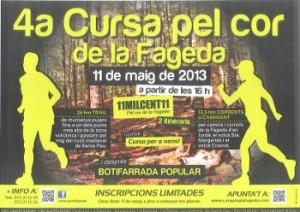 Poster Cursa pel Cor de la Fageda