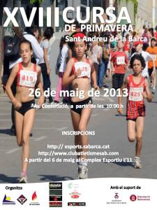 Poster Cursa primavera Sant Andreu