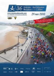 Poster maraton donosti 2013