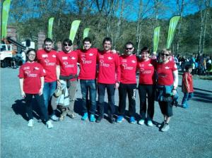 Todos los integrantes de apoyo de los tres equipos Red Runners.